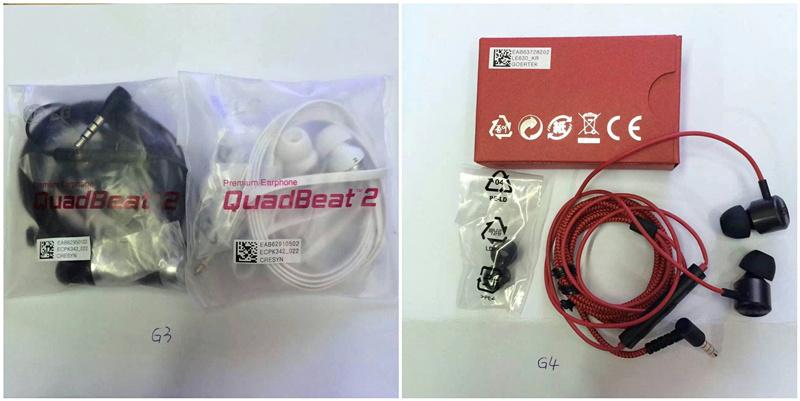LG G3 G4 Quadbeat 2/3 earphone
