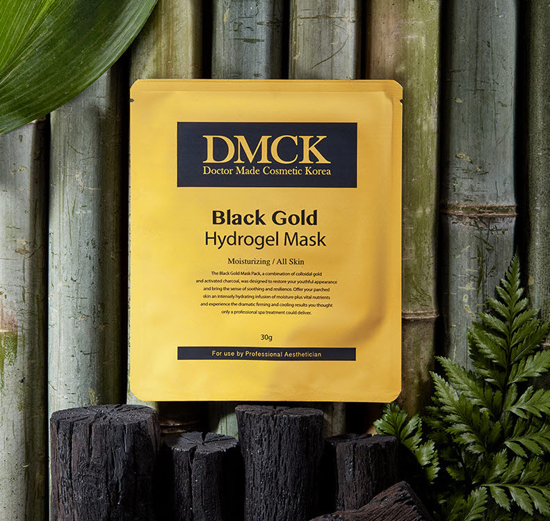 DMCK Anti-Aging Black Gold Hydrogel Mask - innovative essence gel mask for aging skin
