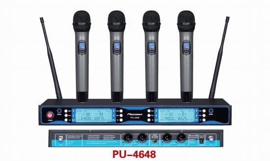 PU-4648 Four Handheld UHF Wireless Microphone