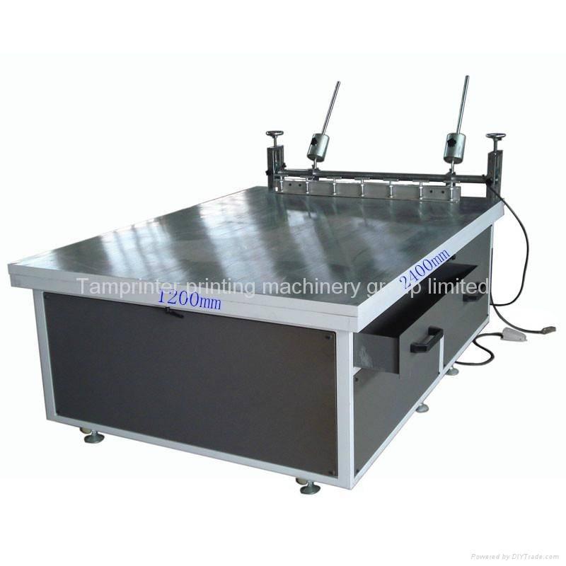 Tam-1224D Glass manual Large screen printing machine