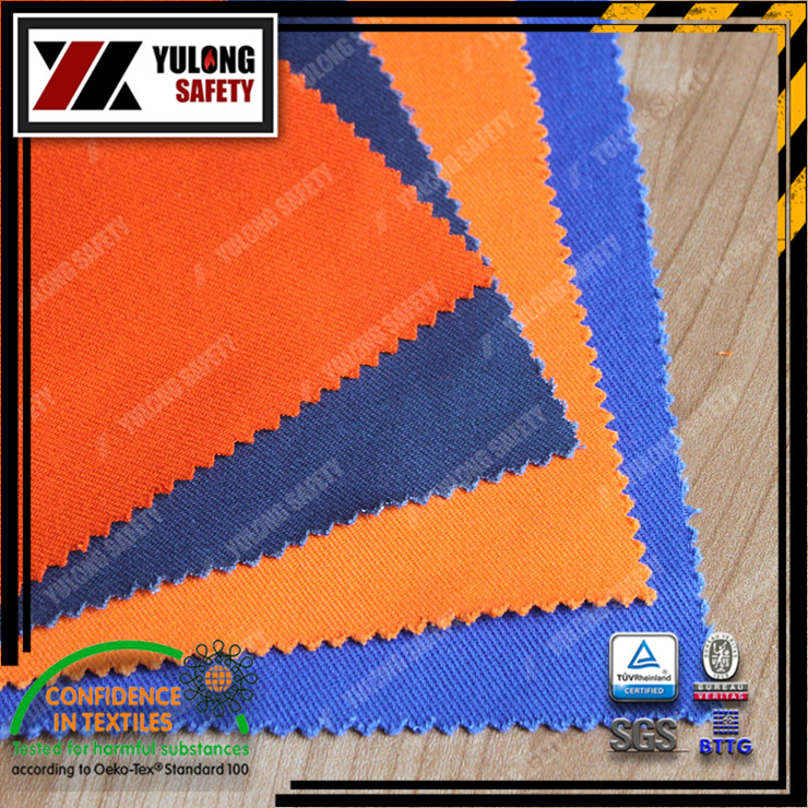 Durable flame retardant acrylic fabric for protective clothing