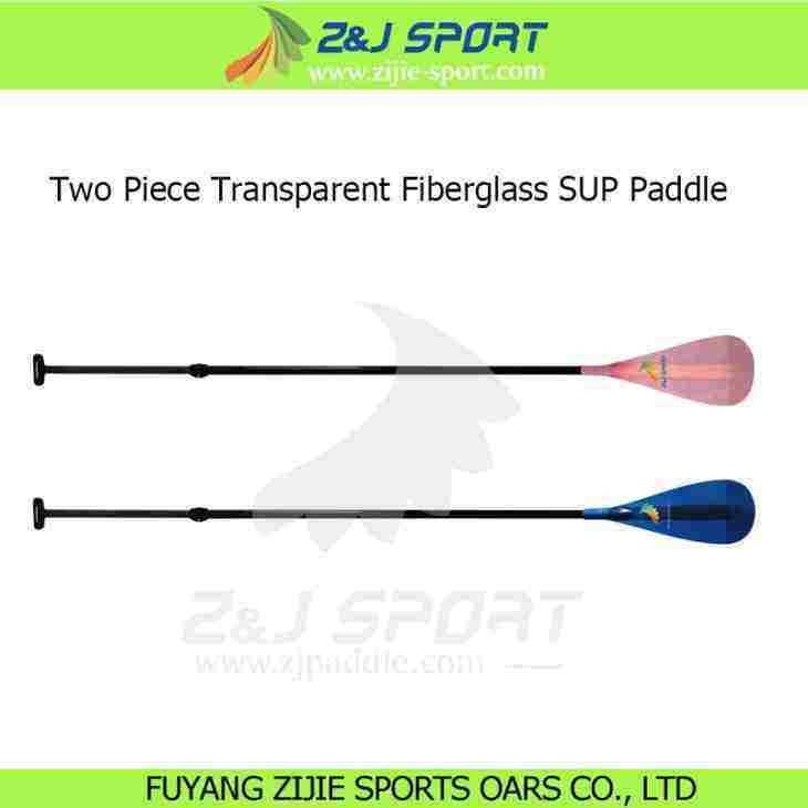 2 Piece Adjustable Transparent Fiberglass Stand Up Paddle