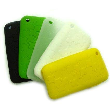 Jigsaw Silicone Skin Cover Case for Apple iPhone 3G