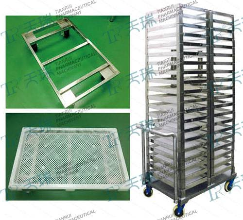 Stainless Steel Capsule Cooling Tray Trolley- Softgel Production Support
