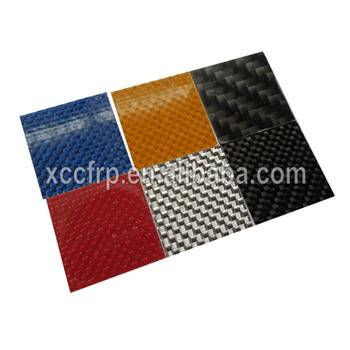 100% Real 1K Color carbon fiber flexible sheet 0.3MM For jewelry mobile car decoration