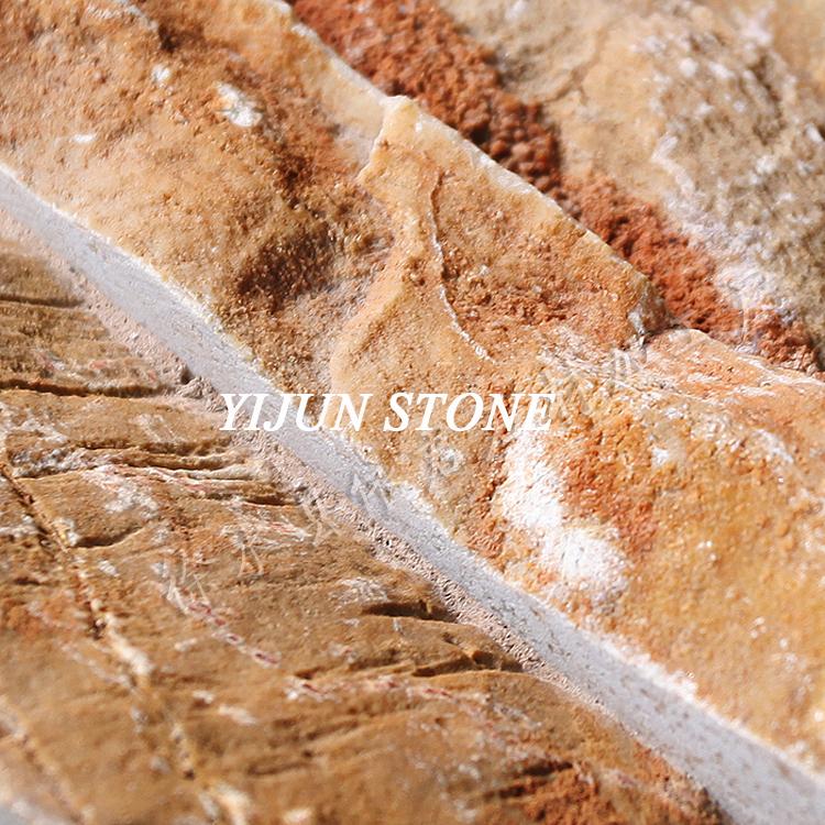YIJUN STONE/ YJ-C-006 Natural slate stone/ Cultured stone/ Fireplace stone