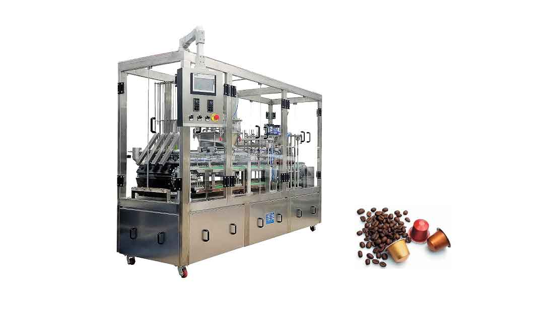 Capsule coffee and filling machine