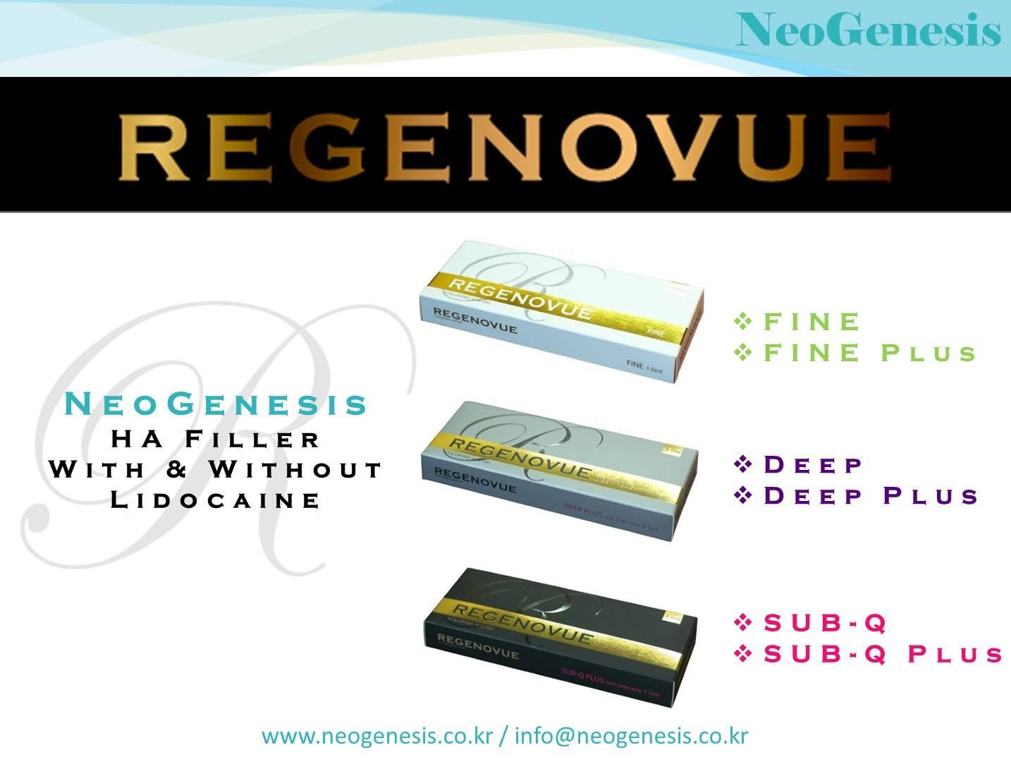 Korean made HA filler Regenovue