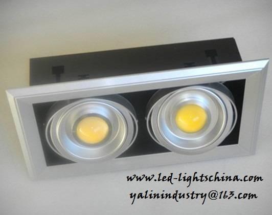 COB LED ceiling lights, grill LED downlight, energt efficient lamp, high power interior lighting