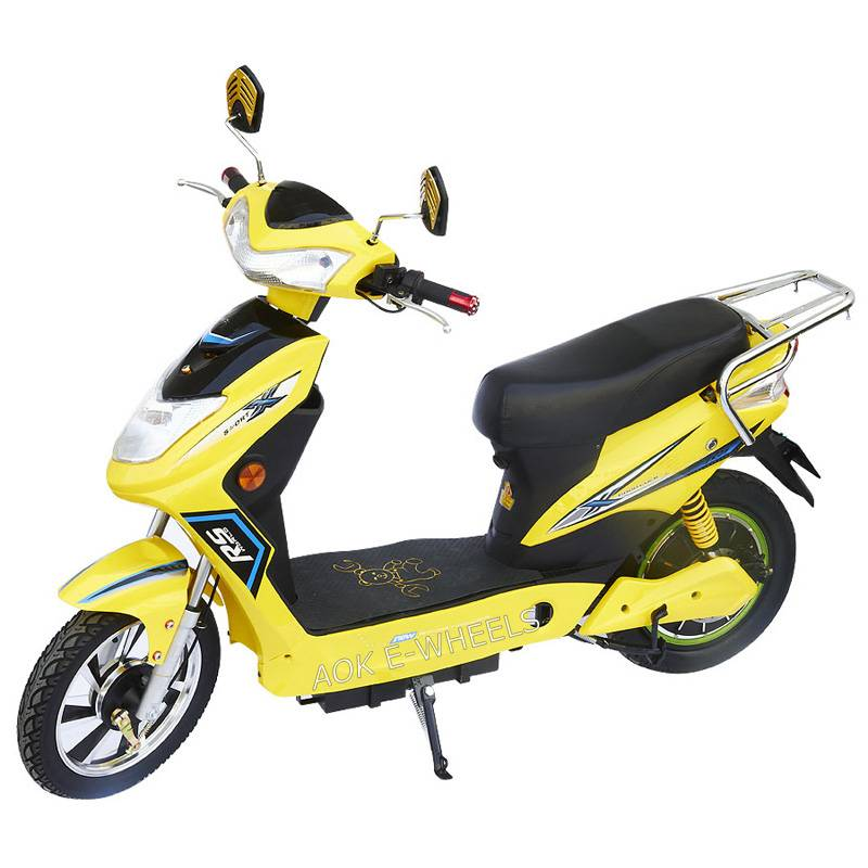 350W/500W Brushless Motor Moped Scooter with Pedal and Rear Box (ES-018)