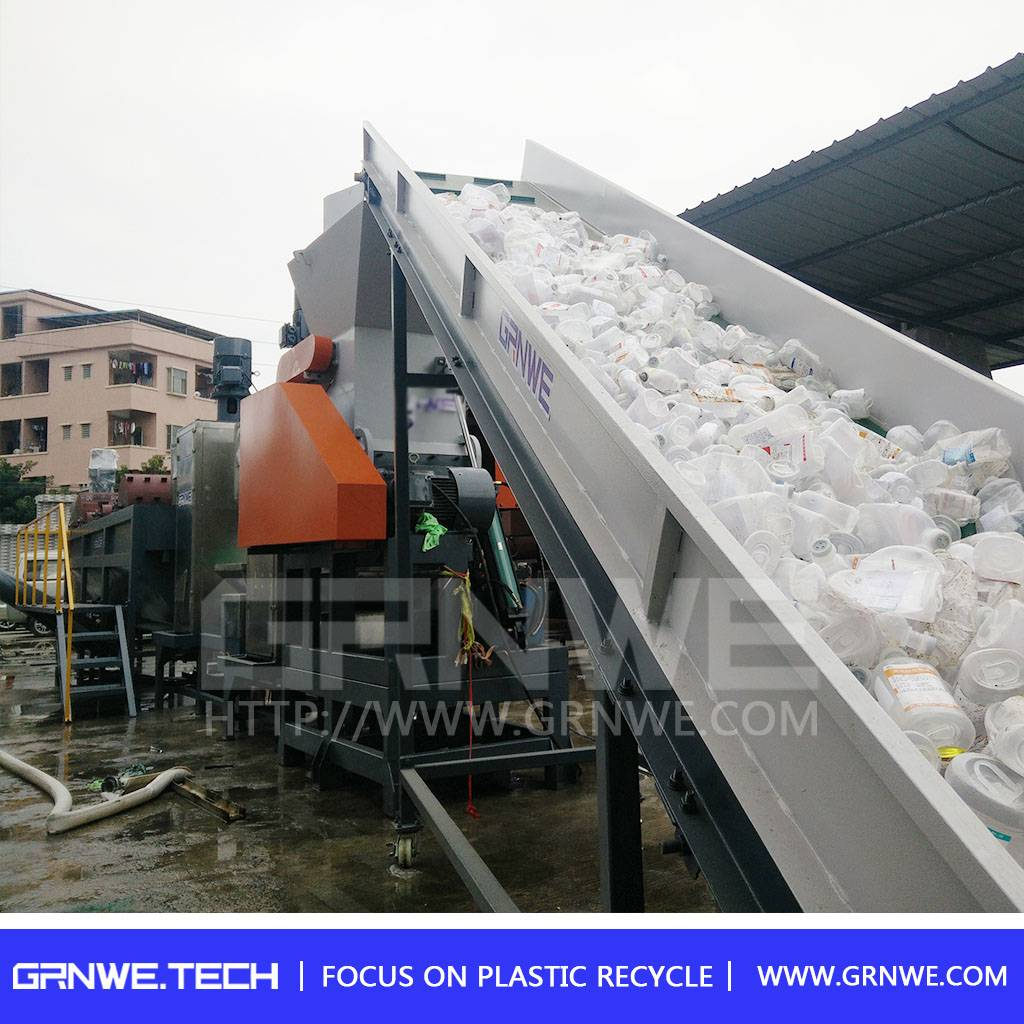 Waste plastic bottle recycling machine /pp hdpe flakes washing recycling line