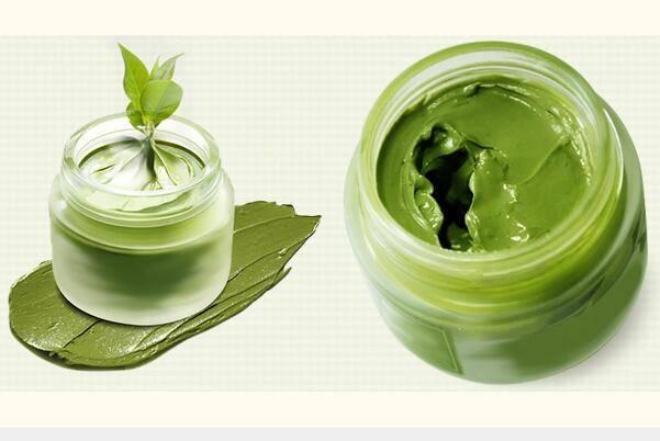 Green tea mud facial mask