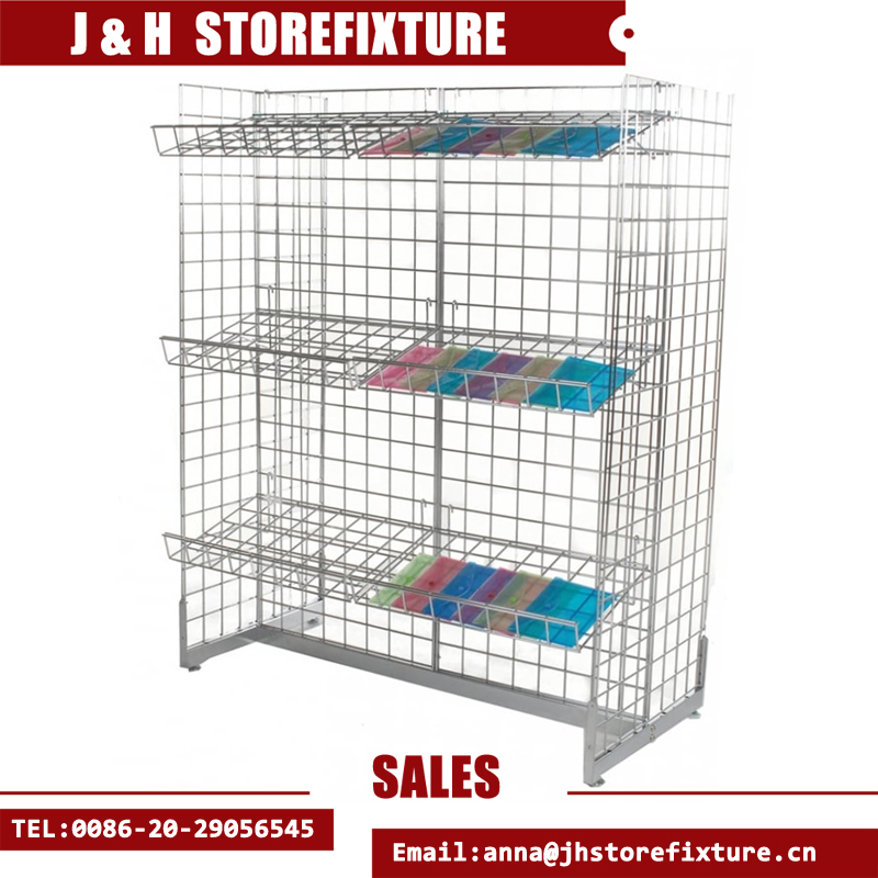 China gridwall H clothing cosmetic display gondola rack