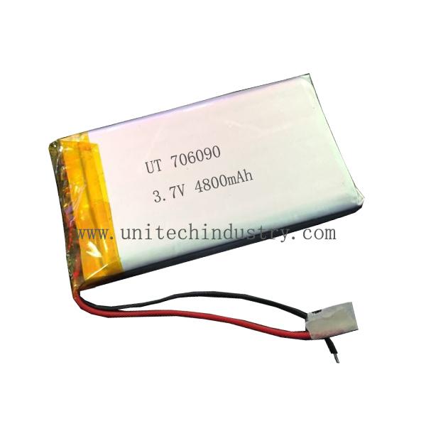 Hi-power rechargeable 706090 4800mAh 3.7V li-polymer battery