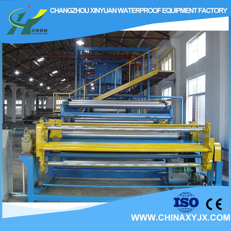 Polymer adhesive waterproofing membrane production machinery