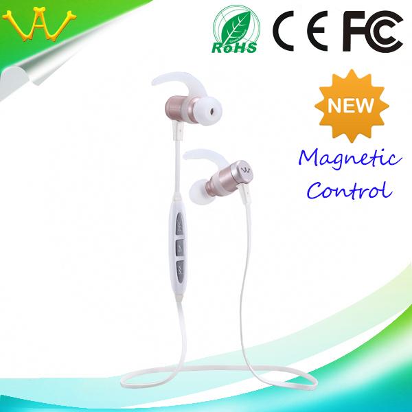 earphones bluetooth wireless Magnetic control bluetooth earphone