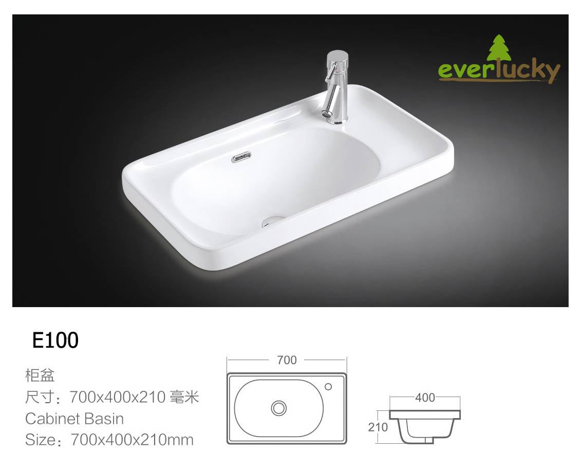 Ceramic Sink Basin Cabinet basins E100