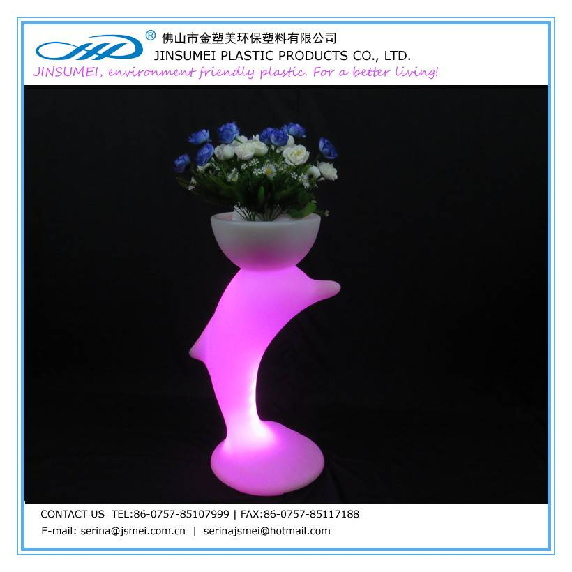 fish-shaped LED flower pot