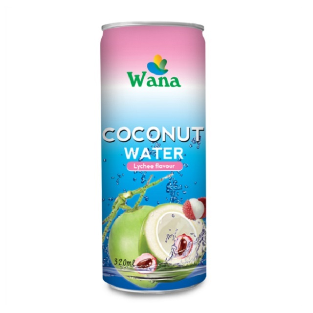 Bulk Coconut Water With Lychee Flavor in 320ml Can