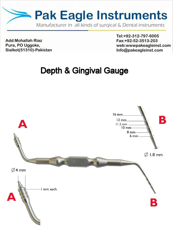 Depth & Gingival gauge