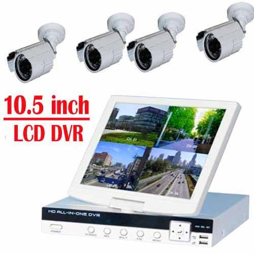 """CCTV Products 10.5""""inch lcd monitor lcd dvr kit"""