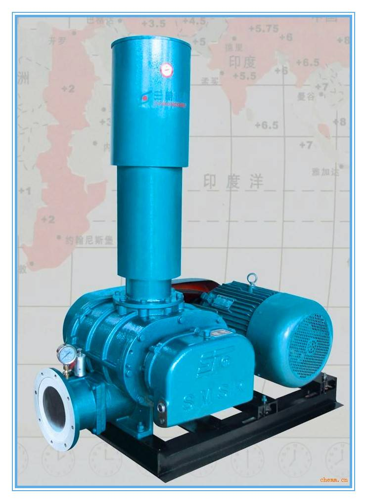 Roots type air blower for sewage treatment