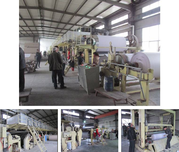 Kraft paper white board paper coating machine