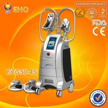 ETG50-4S New 4 work handle slimmng body cryolipolysis vacuum machine