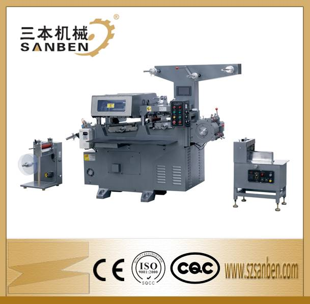 SBY-240 Auto adhesive label printing machine with die-cutting station