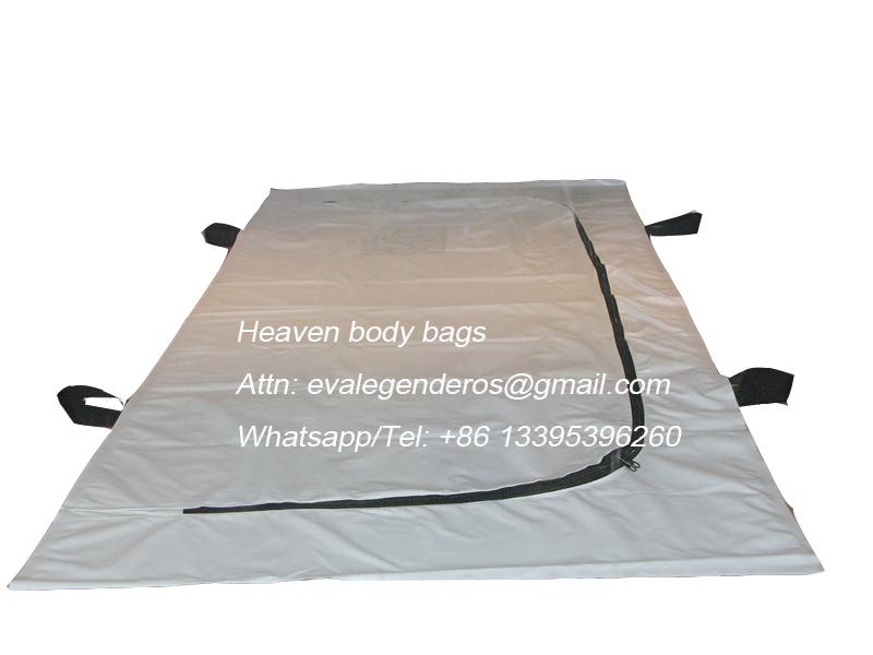 4 Handles Medical PVC Mortuary Bag with U Zipper