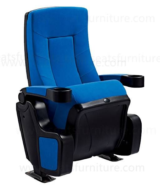 High back fabric upholstered cinema seats with high density foam