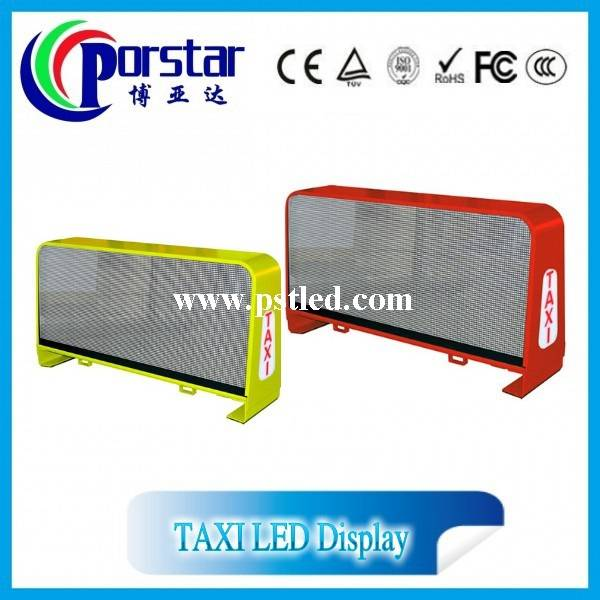 p4mm wireless taxi led top light display