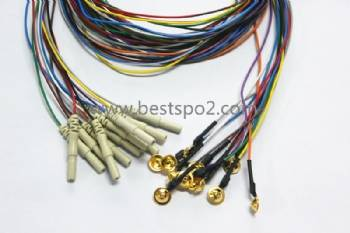 Colorful EEG cable,eeg cable with electrode