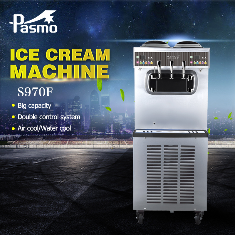 Pasmo Commercial Soft Ice Cream Making Machine S970 with 3 flavor