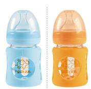 120ml Wide-neck arc glass protective feeding bottle
