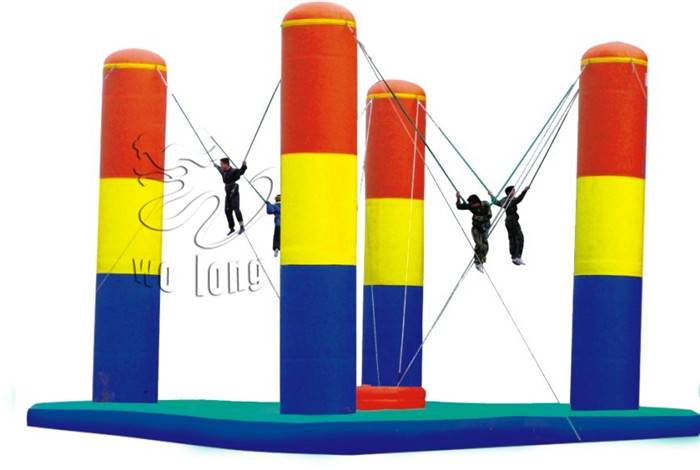 Inflatable Three Pillars Bungee/the inflatable sport games with CE/UL certification