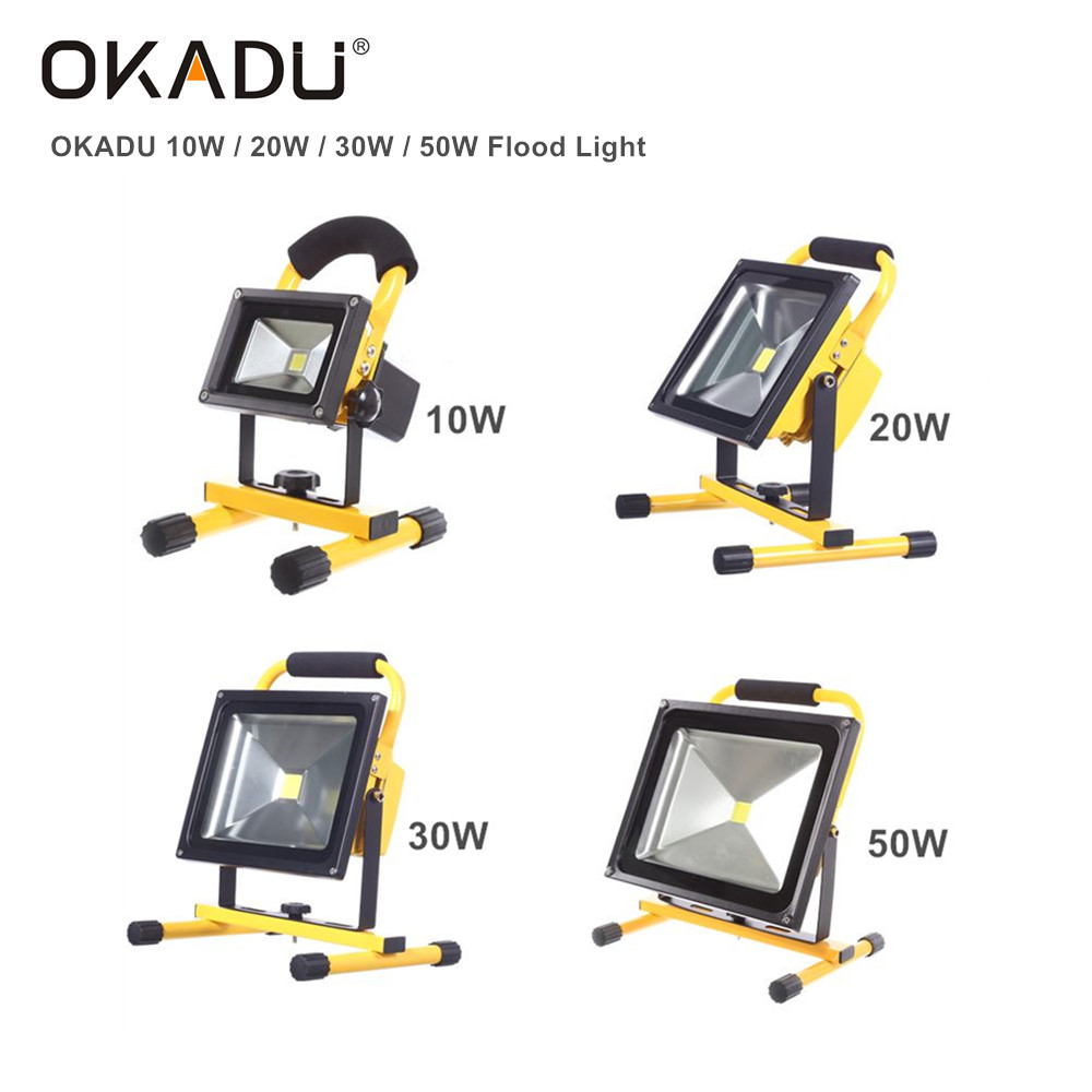 Okadu FL03 10/20/30/50W Flood Light Bulit-in 4400mAh Rechargeable LED Flood Light 900lm LED Flood Li