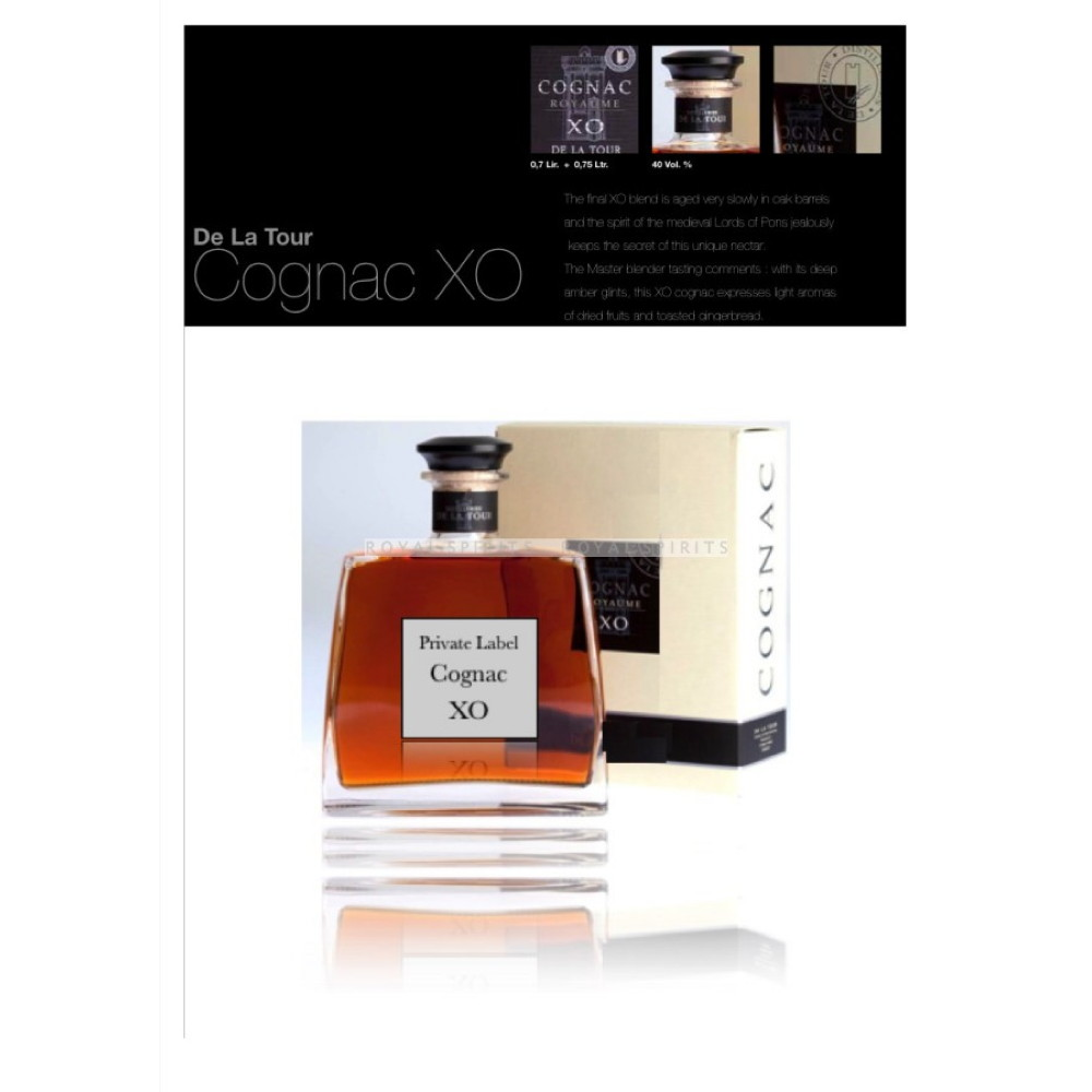 Brandy Cognac V.S, XO - Original french Brandy (Cognac) - 750 ml