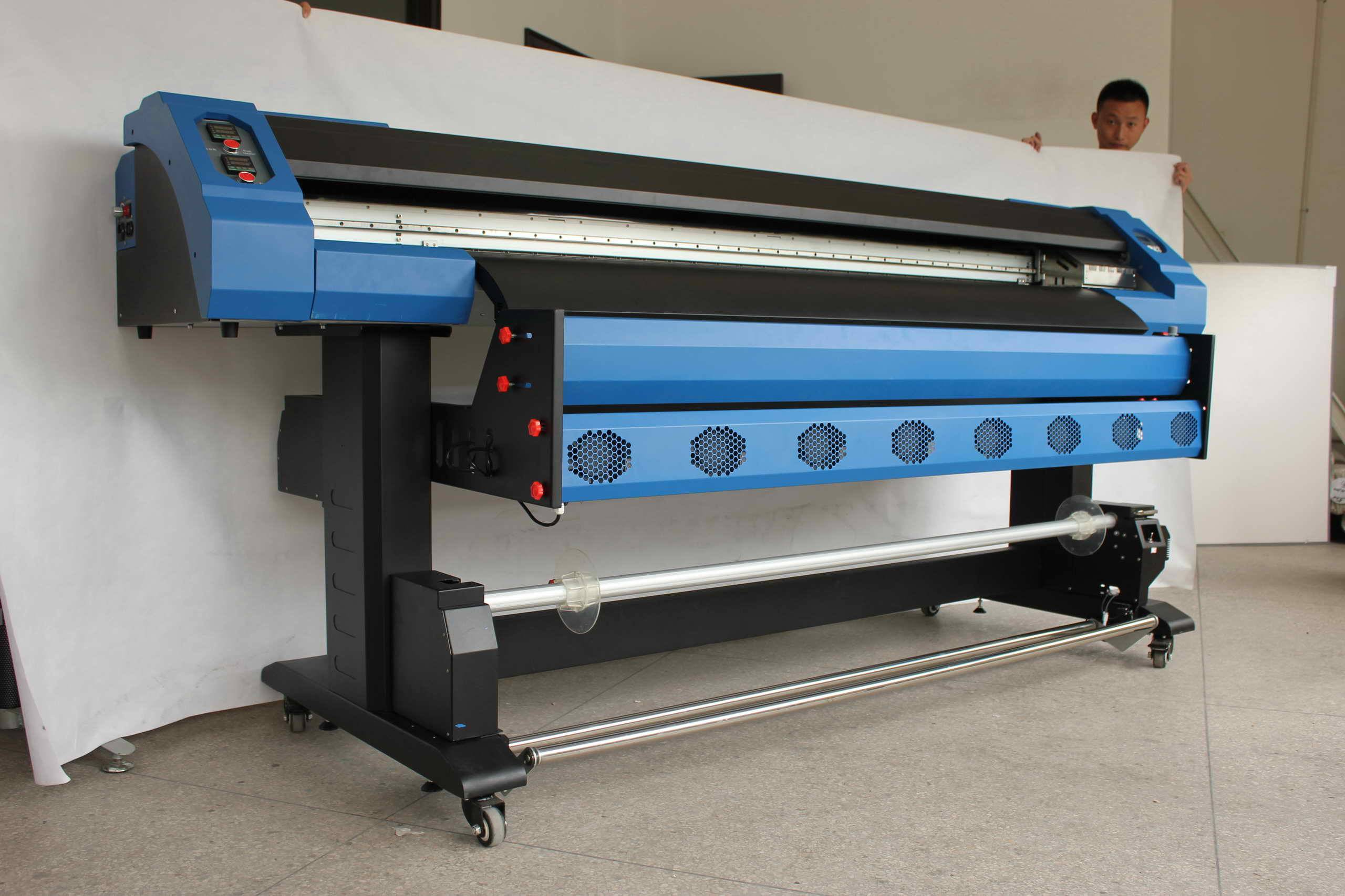 1.8m Eco-solvent printer with two Epson DX7 printhead