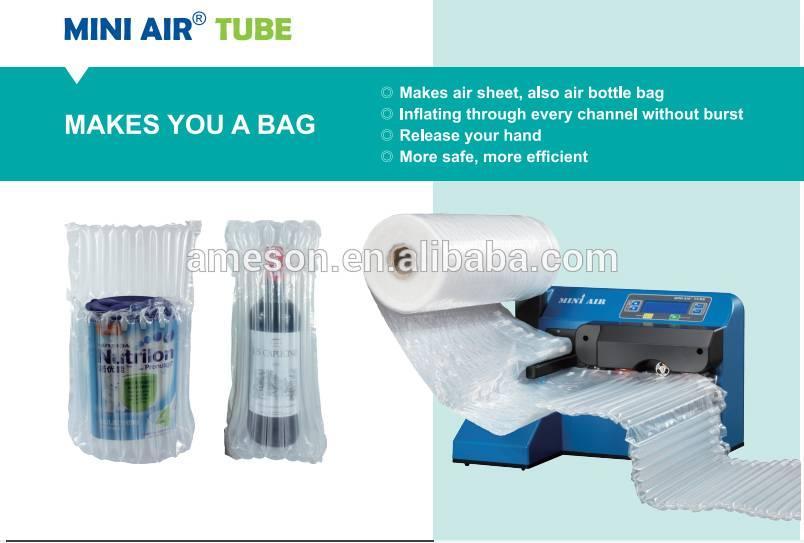 MINI air bubble wrap machine TUBE for wine bottle bag