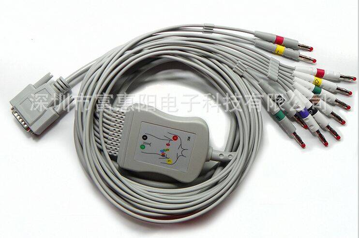 Nihon Kohden one-Piece Series EKG Cable AHA needle type