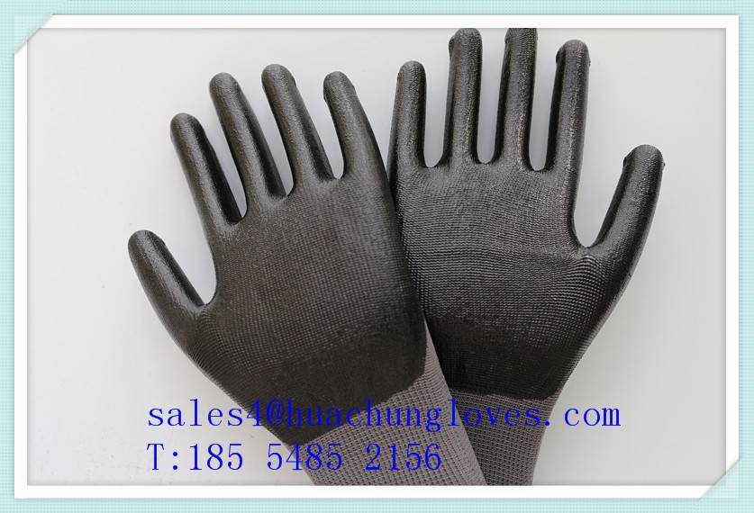 Work safety nitrile coated gloves