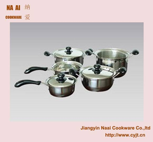 Small Stainless Steel Capsuled Bottom Pan  With Lid