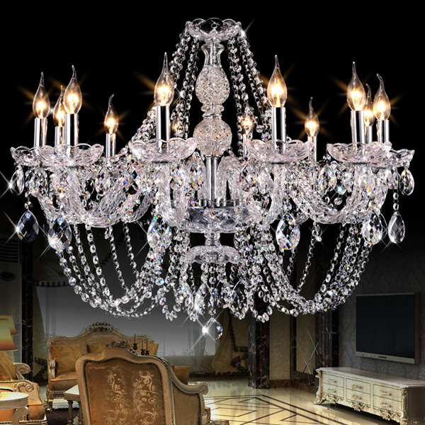 Modern led chandelier for kitchen Bedroom Glass K9 Crystal ceiling chandelier lustres de cristal