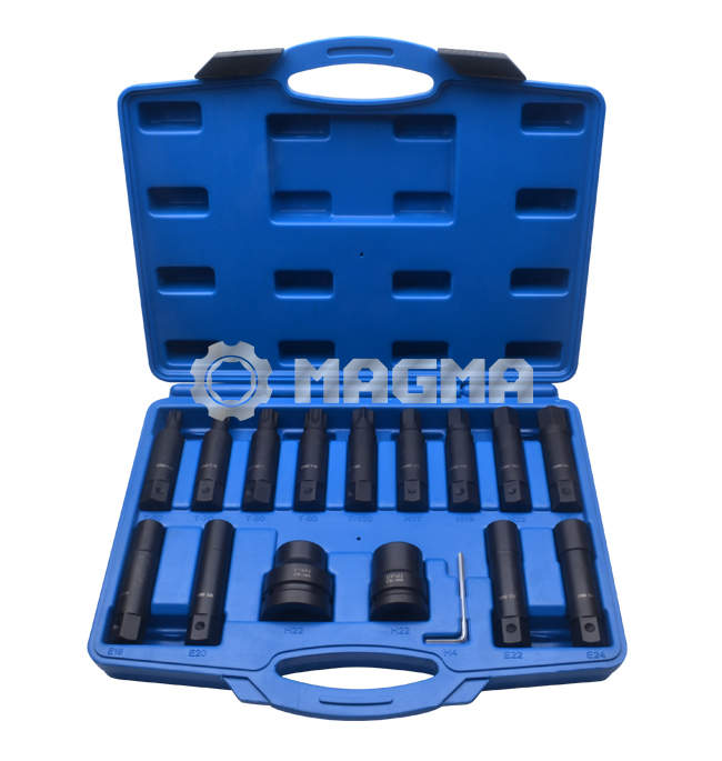 "16PCS Impact Insert Bit Socket Set-3/4"" & 1""(MG50472)"