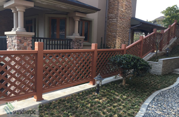 Direct factory supply wpc fence/ wood plastic composite fence&railing