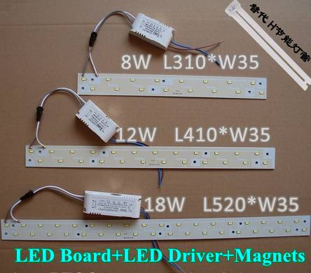 New arrival 5730 SMD LED Ceiling Panel Board 12W 18W led Strip Bar Tube Light with magnet 180V-265V