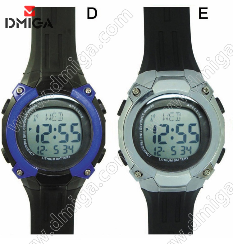Digital radio controlled watch sport watches