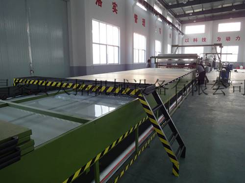 FRP gel coat flat sheet making machine