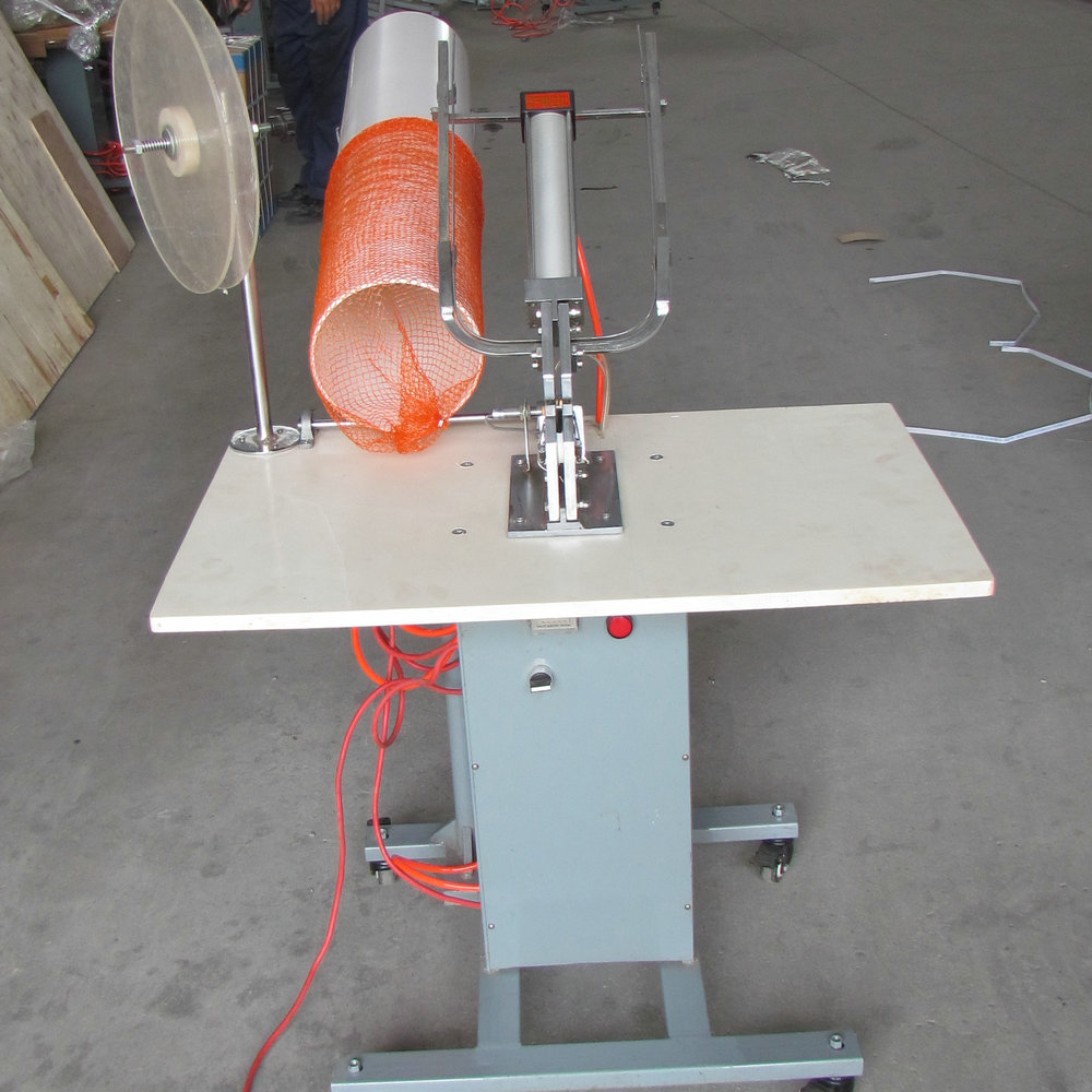 orange Food Standard fresh fruit/vegetable Packing pneumatic clipping machine double food Clipper